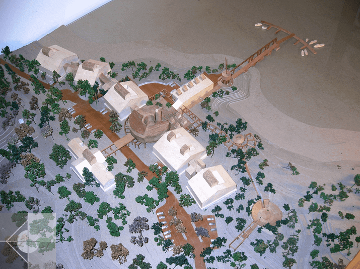 Marine Research Facility Site Model Study by Phelps Architects.