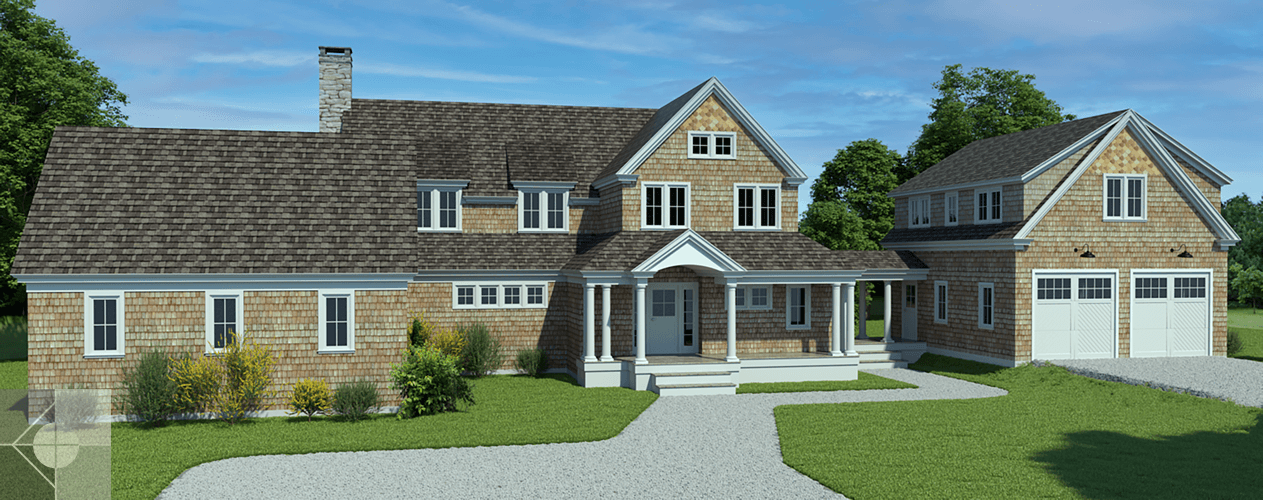 New home construction, Cape Elizabeth, ME by Phelps Architects