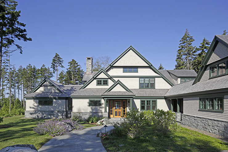 Cushing maine residence designed by michelle steve smith for Maine residential architects