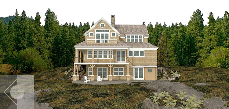 New construction in Westport Island, ME by Michelle B. Phelps, Assoc. AIA.