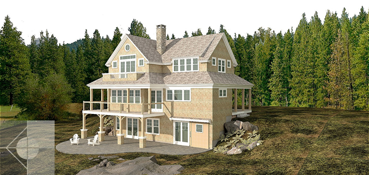 Model of new home construction in Westport Island, Maine.