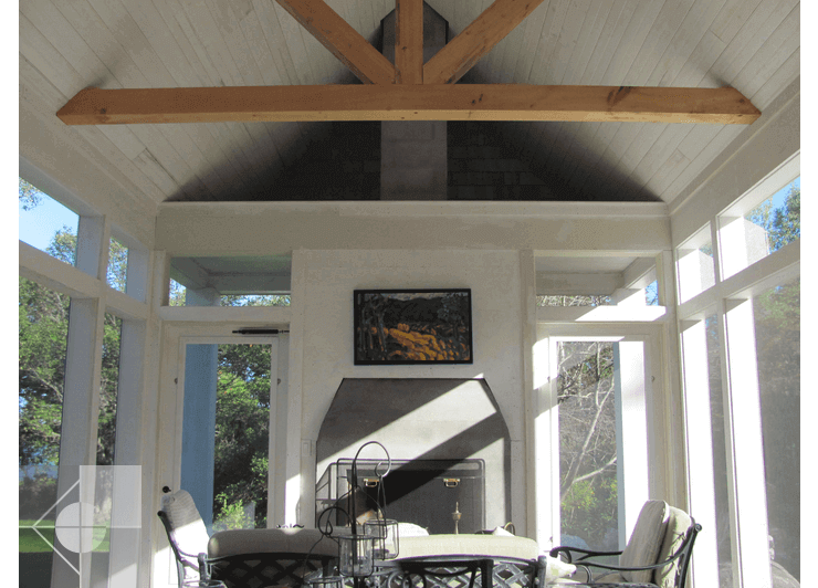 Interior design of a post and beam home by Phelps Architects.