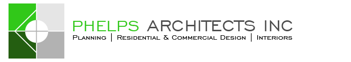 Phelps Architects, specializing in planning residential and commercial designs and interiors.