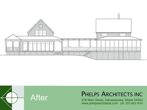 Complete ell and garage renovation by Phelps Architects.