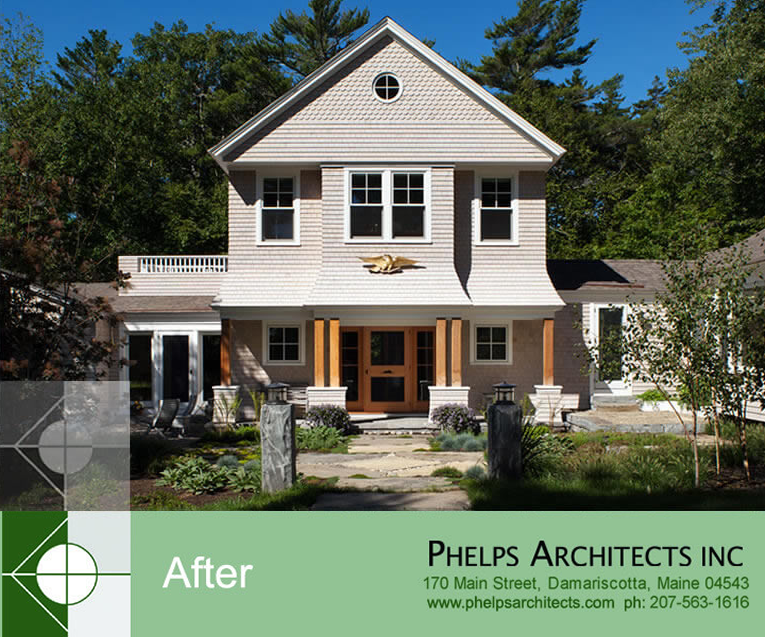 Pemaquid Addition & Renovations by Phelps Architects.