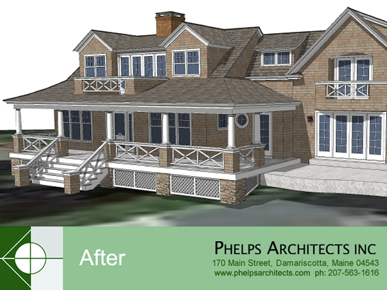 30% addition to a gambrel style structure by  by Phelps Architects.