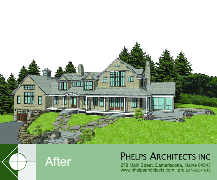 Walpole, Maine renovation by Phelps Architects.