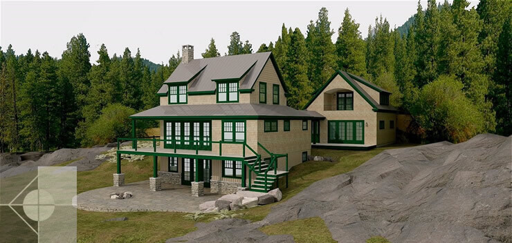 Model For Newcastle Maine Residence By Phelps Architects