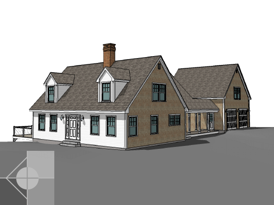 Portfolio image of a residential custom prefab cape in Nobleboro, Maine by Phelps Architects