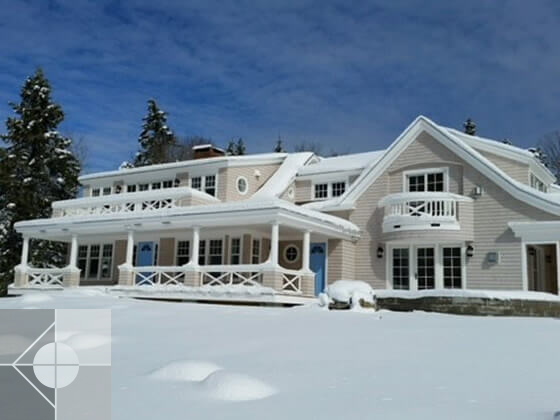 Portfolio image of a residential architectural design in Pemaquid, Maine by Phelps Architects