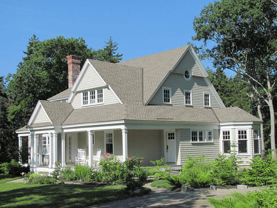 Portfolio image of a residential architectural design in Cross Point, Maine by Phelps Architects