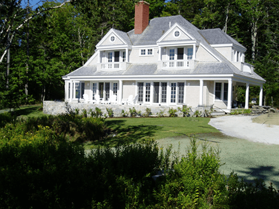 Portfolio image of a residential architectural design in Islesboro, Maine by Phelps Architects