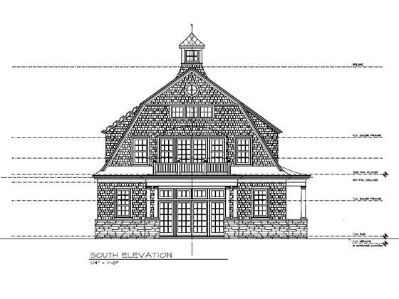 Portfolio image of a residential architectural design in Pemaquid, Maine by Phelps Architects.