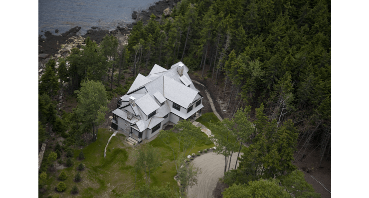 5,000 square foot residence, The Waves, in South Bristol, Maine residence by Michelle B. Phelps, Assoc. AIA.
