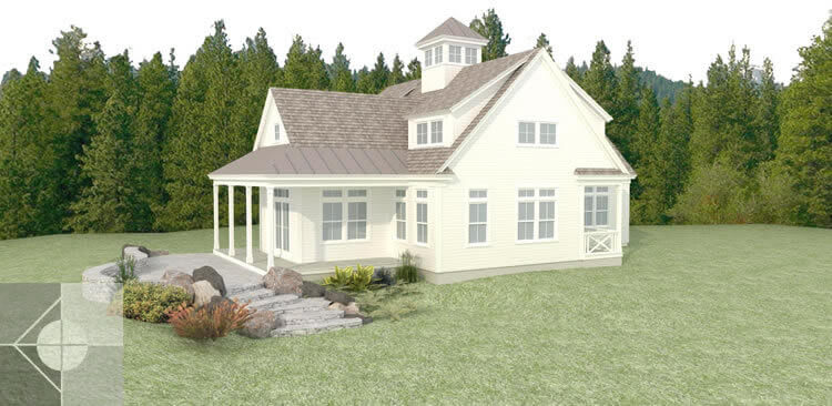 Model of new home in Southport Island, ME by Michelle B. Phelps, Assoc. AIA.