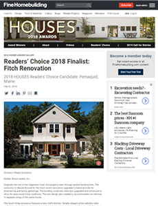 Link to Fine Home Building, which awarded Phelps Architects the Readers' Choice Finalist 2018.