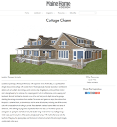 Maine Home & Design Drawing Board article Cottage Charm written by Phelps Architects.