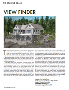 Maine Home & Design Drawing Board article View Finder written by Phelps Architects.